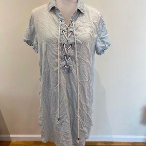 RAILS tunic shirt dress Lagnlook size L Blue Denim